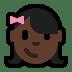 👧🏿 girl: dark skin tone Emoji on Windows Platform