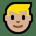 👱🏼 person: medium-light skin tone, blond hair Emoji on Windows Platform