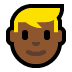 👱🏾 person: medium-dark skin tone, blond hair Emoji on Windows Platform