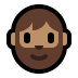 🧔🏽 man: medium skin tone, beard Emoji on Windows Platform