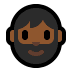 🧔🏾 man: medium-dark skin tone, beard Emoji on Windows Platform