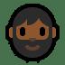 🧔🏾 Medium Dark Skin Tone Bearded Man Emoji on Windows Platform
