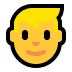 👱♂️ Blond Hair Man Emoji on Windows Platform