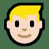 👱🏻♂️ man: light skin tone, blond hair Emoji on Windows Platform
