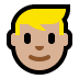 👱🏼‍♂️ man: medium-light skin tone, blond hair Emoji on Windows Platform