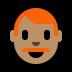 👨🏽🦰 man: medium skin tone, red hair Emoji on Windows Platform