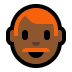 👨🏾🦰 man: medium-dark skin tone, red hair Emoji on Windows Platform