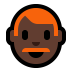 👨🏿‍🦰 man: dark skin tone, red hair Emoji on Windows Platform