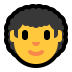 👨‍🦱 man: curly hair Emoji on Windows Platform