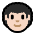 👨🏻‍🦱 man: light skin tone, curly hair Emoji on Windows Platform