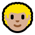 👨🏼‍🦱 man: medium-light skin tone, curly hair Emoji on Windows Platform