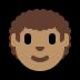 👨🏽🦱 man: medium skin tone, curly hair Emoji on Windows Platform