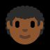 👨🏾🦱 Medium Dark Skin Tone Curly Hair Man Emoji on Windows Platform