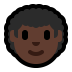 👨🏿‍🦱 man: dark skin tone, curly hair Emoji on Windows Platform