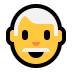 👨‍🦳 man: white hair Emoji on Windows Platform