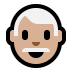👨🏼‍🦳 man: medium-light skin tone, white hair Emoji on Windows Platform