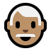 👨🏽‍🦳 man: medium skin tone, white hair Emoji on Windows Platform