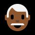 👨🏾🦳 man: medium-dark skin tone, white hair Emoji on Windows Platform