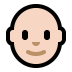 👨🏻‍🦲 man: light skin tone, bald Emoji on Windows Platform