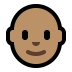 👨🏽‍🦲 Medium Skin Tone Bald Man Emoji on Windows Platform