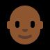 👨🏾🦲 man: medium-dark skin tone, bald Emoji on Windows Platform