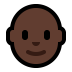 👨🏿‍🦲 man: dark skin tone, bald Emoji on Windows Platform