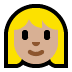 👩🏼 woman: medium-light skin tone Emoji on Windows Platform