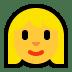 👱♀️ woman: blond hair Emoji on Windows Platform