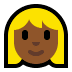 👱🏾♀️ woman: medium-dark skin tone, blond hair Emoji on Windows Platform