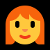 👩‍🦰 woman: red hair Emoji on Windows Platform