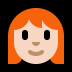👩🏻‍🦰 Light Skin Tone Red Hair Woman Emoji on Windows Platform