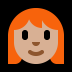 👩🏼‍🦰 woman: medium-light skin tone, red hair Emoji on Windows Platform