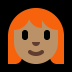 👩🏽🦰 woman: medium skin tone, red hair Emoji on Windows Platform