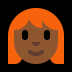 👩🏾‍🦰 woman: medium-dark skin tone, red hair Emoji on Windows Platform
