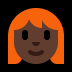 👩🏿‍🦰 woman: dark skin tone, red hair Emoji on Windows Platform