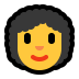👩‍🦱 woman: curly hair Emoji on Windows Platform