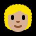 👩🏼🦱 woman: medium-light skin tone, curly hair Emoji on Windows Platform