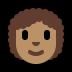 👩🏽🦱 woman: medium skin tone, curly hair Emoji on Windows Platform