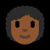 👩🏾🦱 Medium Dark Skin Tone Curly Hair Woman Emoji on Windows Platform