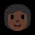 👩🏿🦱 woman: dark skin tone, curly hair Emoji on Windows Platform