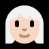 👩🏻🦳 woman: light skin tone, white hair Emoji on Windows Platform