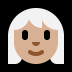 👩🏼‍🦳 woman: medium-light skin tone, white hair Emoji on Windows Platform