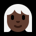 👩🏿‍🦳 woman: dark skin tone, white hair Emoji on Windows Platform