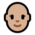👩🏼‍🦲 woman: medium-light skin tone, bald Emoji on Windows Platform