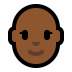 👩🏾‍🦲 woman: medium-dark skin tone, bald Emoji on Windows Platform