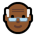 👴🏾 old man: medium-dark skin tone Emoji on Windows Platform