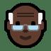 👴🏿 old man: dark skin tone Emoji on Windows Platform