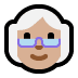 👵🏼 old woman: medium-light skin tone Emoji on Windows Platform