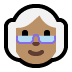 👵🏽 old woman: medium skin tone Emoji on Windows Platform
