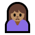 🙍🏽 person frowning: medium skin tone Emoji on Windows Platform